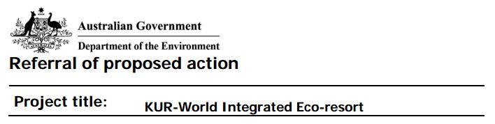 kur-world-epbc-referral-of-proposed-action-title